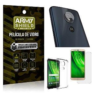 Kit Película de Lente + Película de Vidro + Capa Silicone Motorola Moto G6 Play - Armyshield