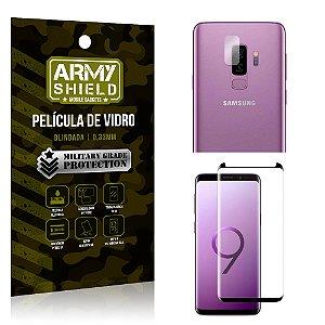 Kit Película de Lente Câmera Anti Risco + Película de Vidro Samsung Galaxy S9 Plus - Armyshield