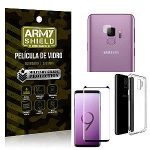Kit Película de Lente Câmera + Película de Vidro + Capa Silicone Samsung Galaxy S9 - Armyshield