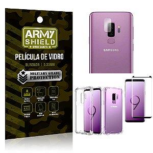 Kit Película de Lente Câmera + Película de Vidro + Capa Anti Shock Samsung Galaxy S9 Plus - Armyshield