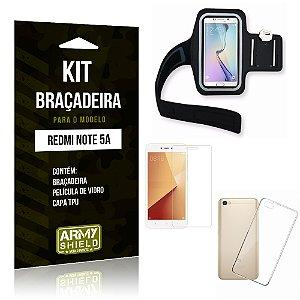 Kit Braçadeira Xiaomi Redmi Note 5A Braçadeira + Capa + Película  - Armyshield