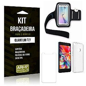 Kit Braçadeira Quantum Fly Braçadeira + Capa + Película  - Armyshield