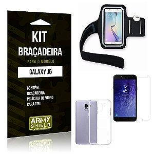 Kit Braçadeira Samsung J6 Braçadeira + Capa + Película  - Armyshield