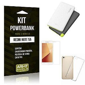 Kit Powerbank Xiaomi Redmi Note 5A Powerbank + Capa + Película  - Armyshield