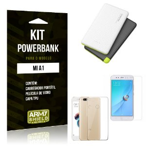 Kit Powerbank Tipo C Xiaomi Mi A1 Powerbank + Capa + Película  - Armyshield