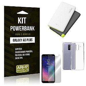 Kit Powerbank Samsung A6 Plus Powerbank + Capa + Película  - Armyshield