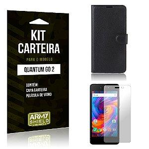 Kit Carteira Quantum Go 2 Capa Carteira + Película de Vidro - Armyshield