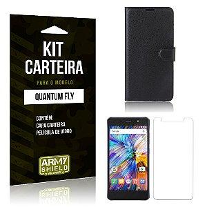 Kit Carteira Quantum Fly Capa Carteira + Película de Vidro - Armyshield
