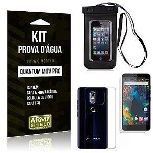 Kit Capa Prova D'água Quantum Muv Pro Capa a Prova D'água + Capa + Película  - Armyshield