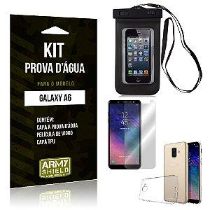 Kit Capa Prova D'água Samsung A6 Capa a Prova D'água + Capa + Película  - Armyshield