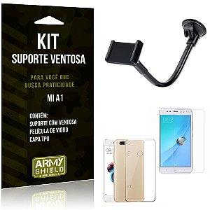 Kit Suporte Ventosa Xiaomi Mi A1 Suporte + Capa + Película  - Armyshield