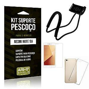 Kit Suporte Pescoço Xiaomi Redmi Note 5A Suporte + Capa + Película - Armyshield