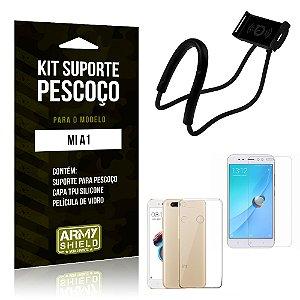 Kit Suporte Pescoço Xiaomi Mi A1 Suporte + Capa + Película - Armyshield