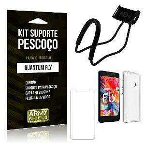 Kit Suporte Pescoço Quantum Fly Suporte + Capa + Película - Armyshield
