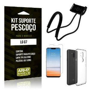 Kit Suporte Pescoço LG G7 Suporte + Capa + Película - Armyshield