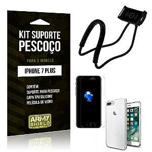 Kit Suporte Pescoço Apple iPhone 7 Plus Suporte + Capa + Película - Armyshield