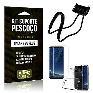 Kit Suporte Pescoço Samsung S8 Plus Suporte + Capa + Película - Armyshield