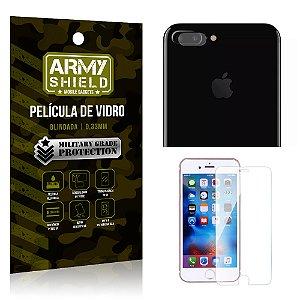 Kit Película de Lente Câmera Anti Risco + Película de Vidro Apple Iphone 7 Plus - Armyshield