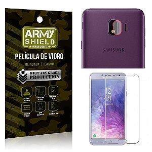 Kit Película de Lente Câmera Anti Risco + Película de Vidro Samsung Galaxy J4 - Armyshield