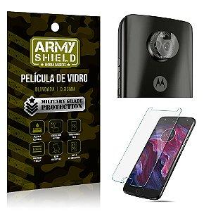 Kit Película de Lente Câmera Anti Risco + Película de Vidro Motorola Moto X4 - Armyshield