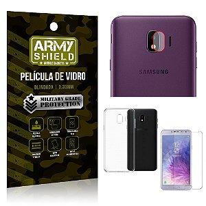 Kit Película de Lente Câmera + Película de Vidro + Capa Silicone Samsung Galaxy J4 - Armyshield