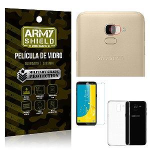 Kit Película de Lente Câmera + Película de Vidro + Capa Silicone Samsung Galaxy J6 - Armyshield