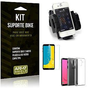 Kit Suporte Moto Bike Galaxy J8 Suporte + Película + Capa - Armyshield