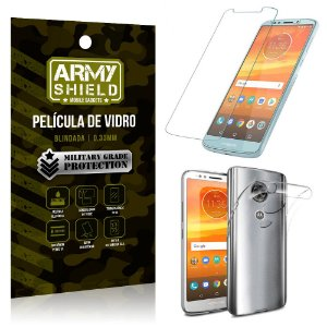 Kit TPU Motorola Moto E5 Plus Película de Vidro + Capa - Armyshield