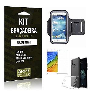Kit Braçadeira Xiaomi Mi A2  Braçadeira + Película + Capa - Armyshield