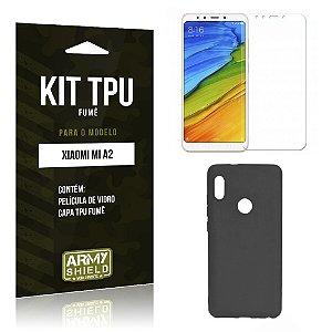 Kit Capa Fumê Xiaomi Mi A2  Película + Capa Fumê - Armyshield