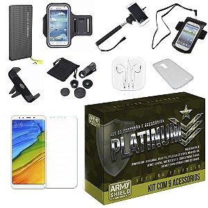 Kit Platinum Xiaomi Mi A2  com 9 Acessórios - Armyshield