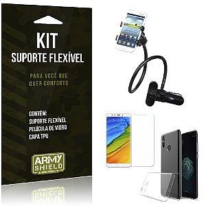 Kit Suporte Flexível Xiaomi Mi A2  Suporte + Película + Capa - Armyshield