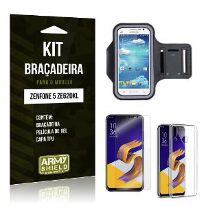 Kit Braçadeira Zenfone 5 ZE620KL  Braçadeira + Película + Capa - Armyshield