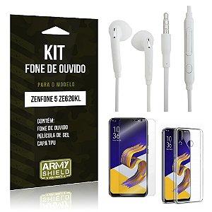 Kit Fone de Ouvido Zenfone 5 ZE620KL  Fone + Película + Capa - Armyshield