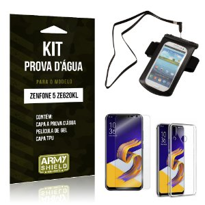 Kit Capa à Prova D'água Zenfone 5 ZE620KL  Prova Dágua + Película + Capa - Armyshield
