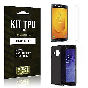 Kit Capa Fumê Samsung Galaxy J7 Duo  Película + Capa Fumê - Armyshield