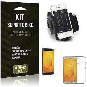 Kit Suporte Moto Bike Samsung Galaxy J7 Duo  Suporte + Película + Capa - Armyshield