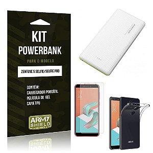 Kit Powerbank Zenfone 5 Selfie - Selfie Pro ZC600KL  Powerbank + Película + Capa - Armyshield