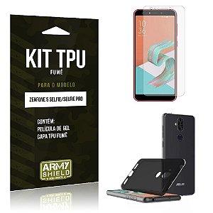 Kit Capa Fumê Zenfone 5 Selfie - Selfie Pro ZC600KL  Película + Capa Fumê - Armyshield