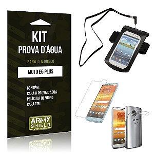 Kit Capa à Prova D'água Motorola Moto E5 Plus  Prova Dágua + Película + Capa - Armyshield