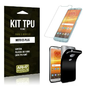 Kit Capa Fumê Motorola Moto E5 Plus  Película + Capa Fumê - Armyshield