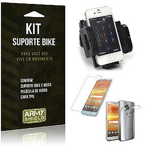 Kit Suporte Moto Bike Motorola Moto E5 Plus  Suporte + Película + Capa - Armyshield