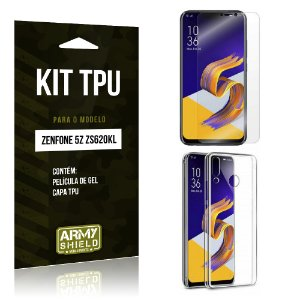 Kit Capa Silicone Zenfone 5Z ZS620KL  Película + Capa - Armyshield