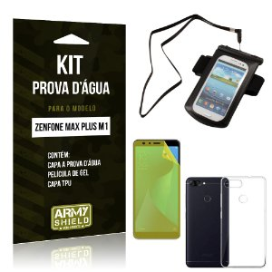 Kit Capa à Prova D'água Zenfone Max Plus M1 ZB570TL Prova Dágua + Película + Capa - Armyshield