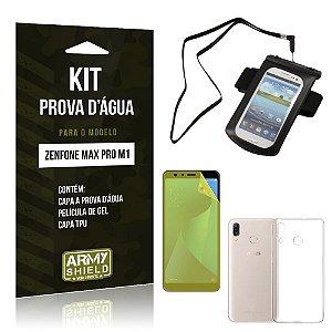 Kit Capa à Prova D'água Zenfone Max Pro M1 ZB602KL Prova Dágua + Película + Capa - Armyshield