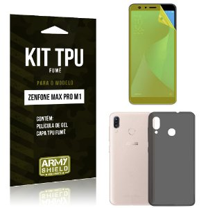 Kit Capa Fumê Zenfone Max Pro M1 ZB602KL Película + Capa Fumê - Armyshield