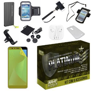 Kit Platinum Zenfone Max Pro M1 ZB602KL com 9 Acessórios - Armyshield