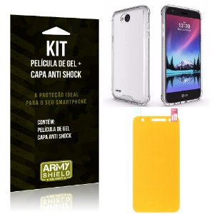 Kit LG K10 Power Capa Anti Shock + Película de Gel - Armyshield
