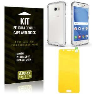 Kit Galaxy A3 (2017) Capa Anti Shock + Película de Gel - Armyshield