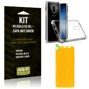 Kit Galaxy A6 Capa Anti Shock + Película de Gel - Armyshield